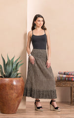 Victorian Skirt, Long, Black Dot