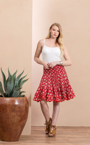 Macarena Skirt, Mini, Davina Red