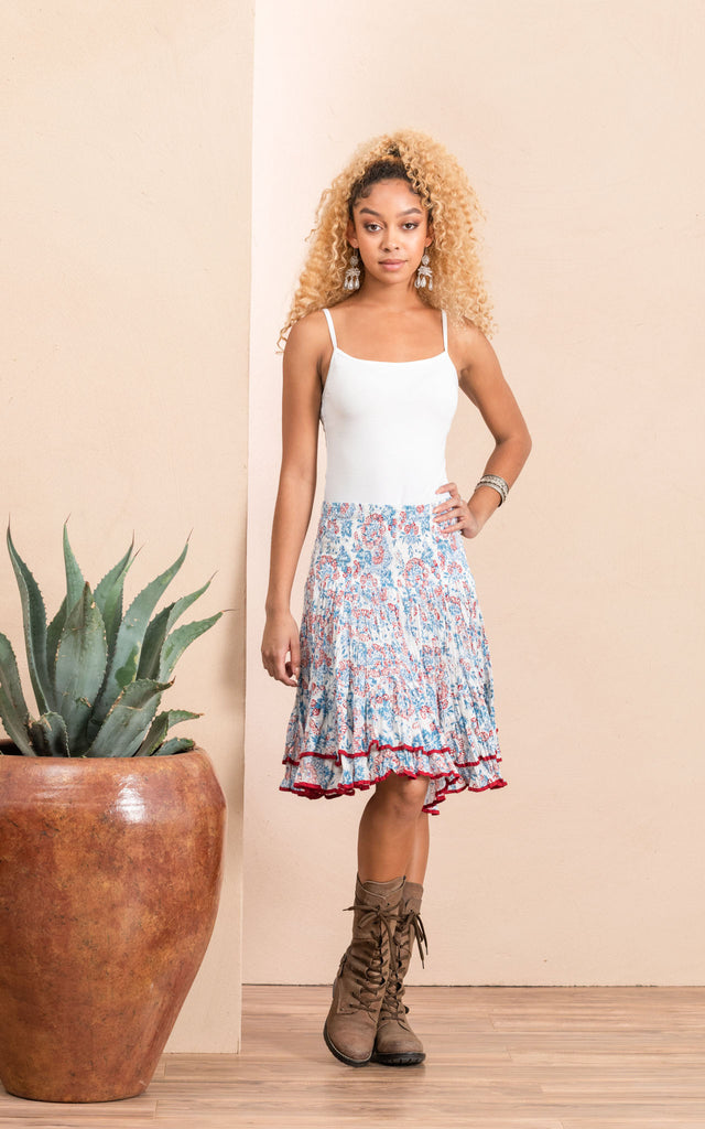 Macarena Skirt, Mini, White Blossom