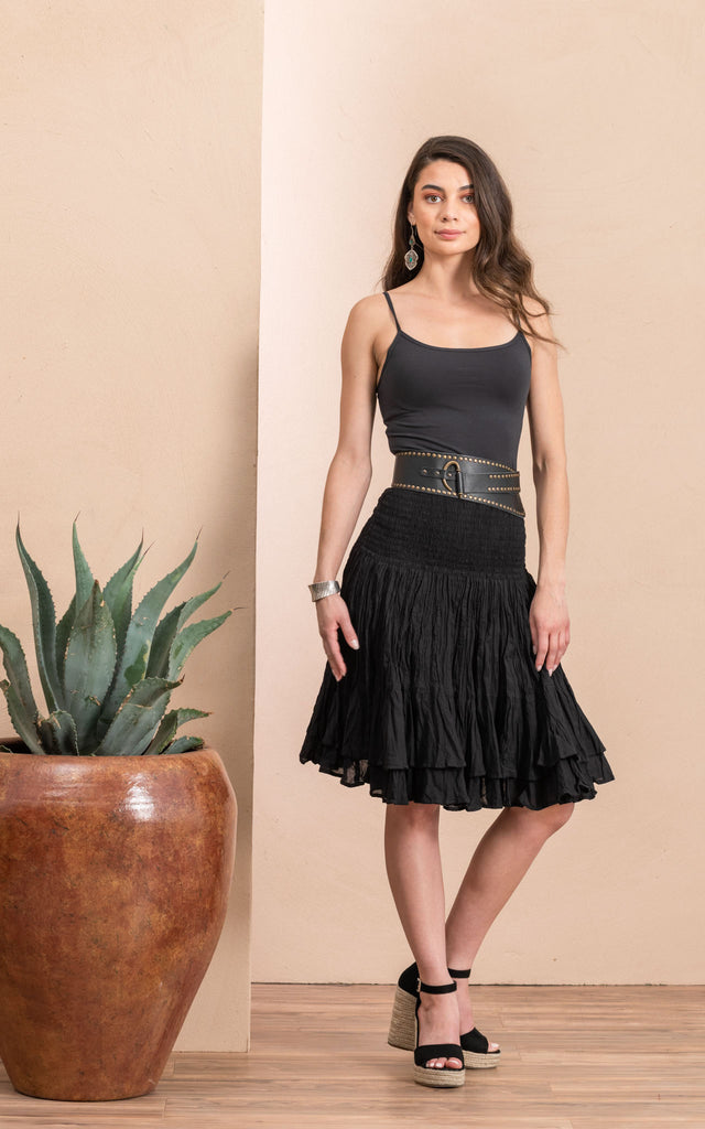 Macarena Skirt, Mini, Solid Black