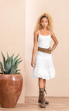Macarena Skirt, Mini, Solid White