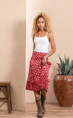 Victorian Skirt, Short, Davina Red
