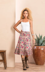 Victorian Skirt, Short, Desert Bloom