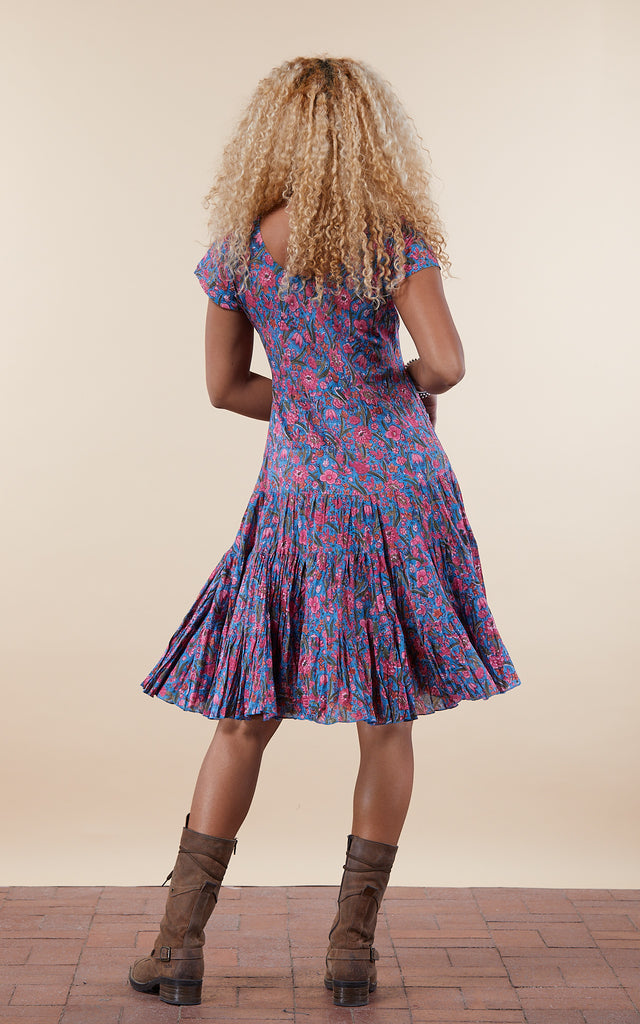 Paloma Dress, Short, Cap Sleeve, Jada Floral