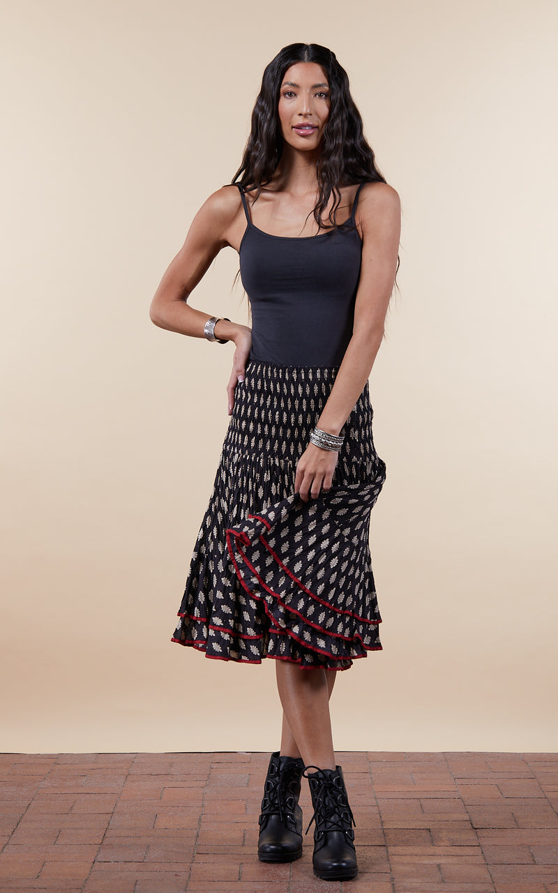Macarena Skirt, Mini, Black Bagru