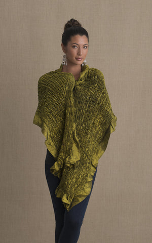 Thai Silk Shawl, Avocado