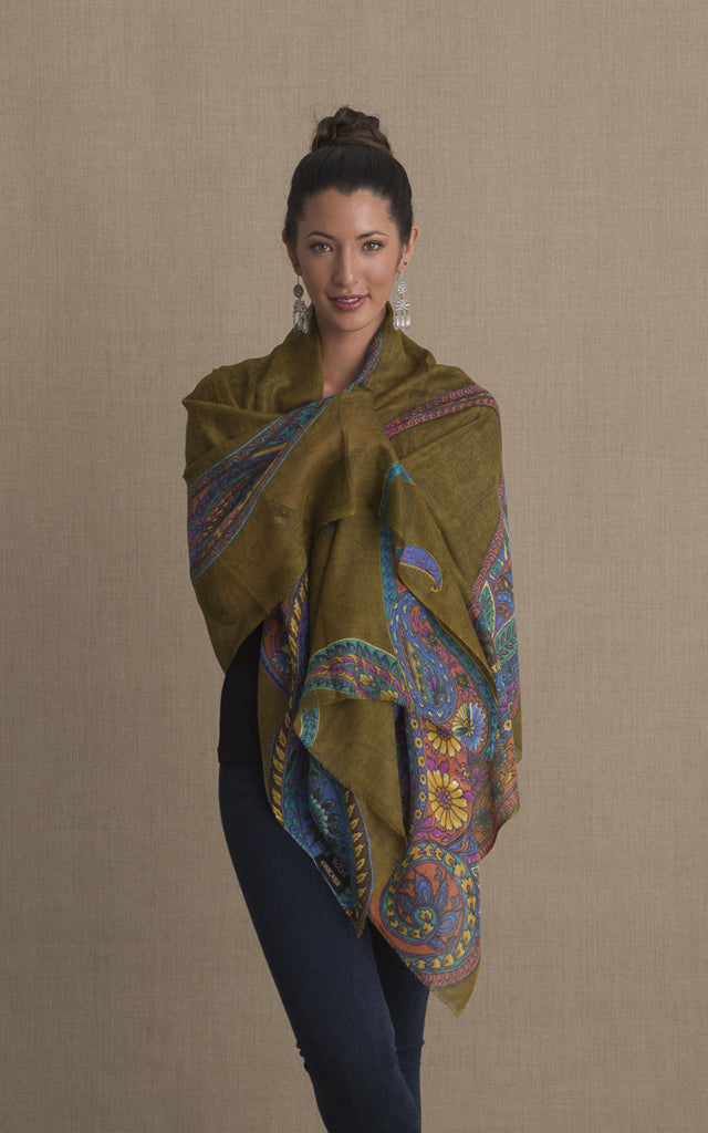 Silk Wool Shawl