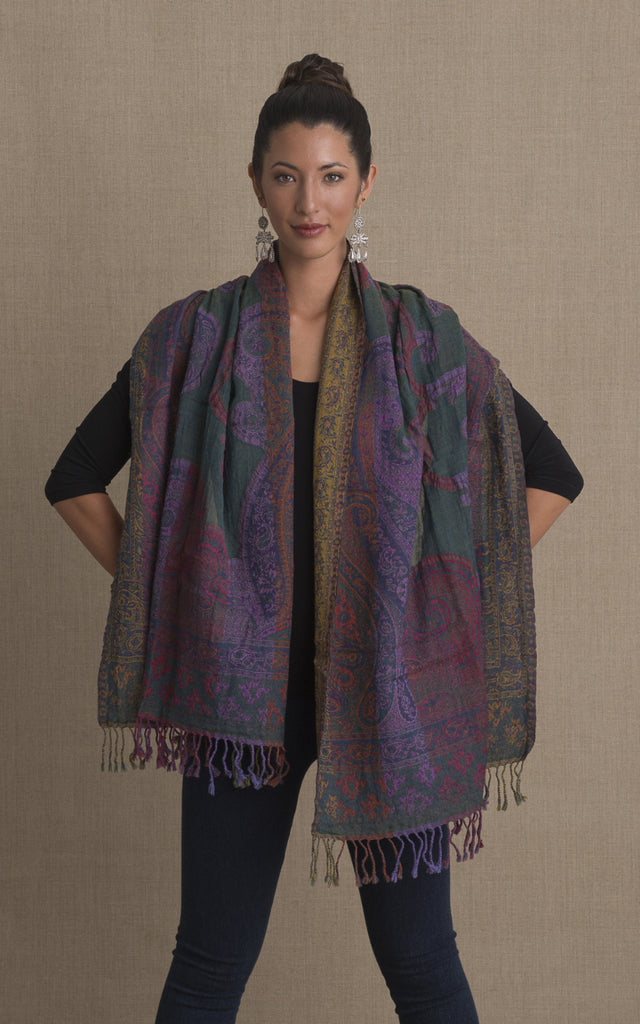 Boiled Wool Shawl