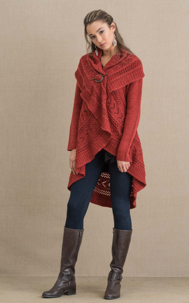 Pueblo Sweater, Rust