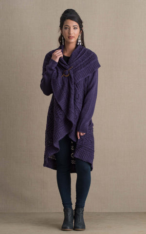 Pueblo Sweater, Purple