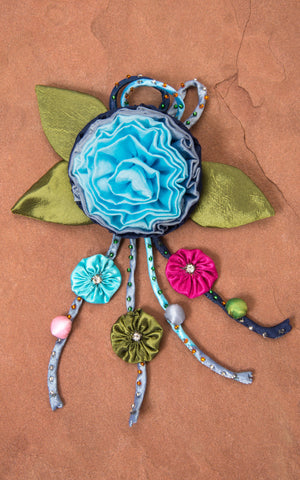 Silk Rose, Turquoise & Blue
