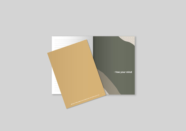 Notebook A5 Curry Yellow