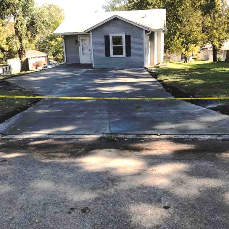 After - Concrete Driveway Installation