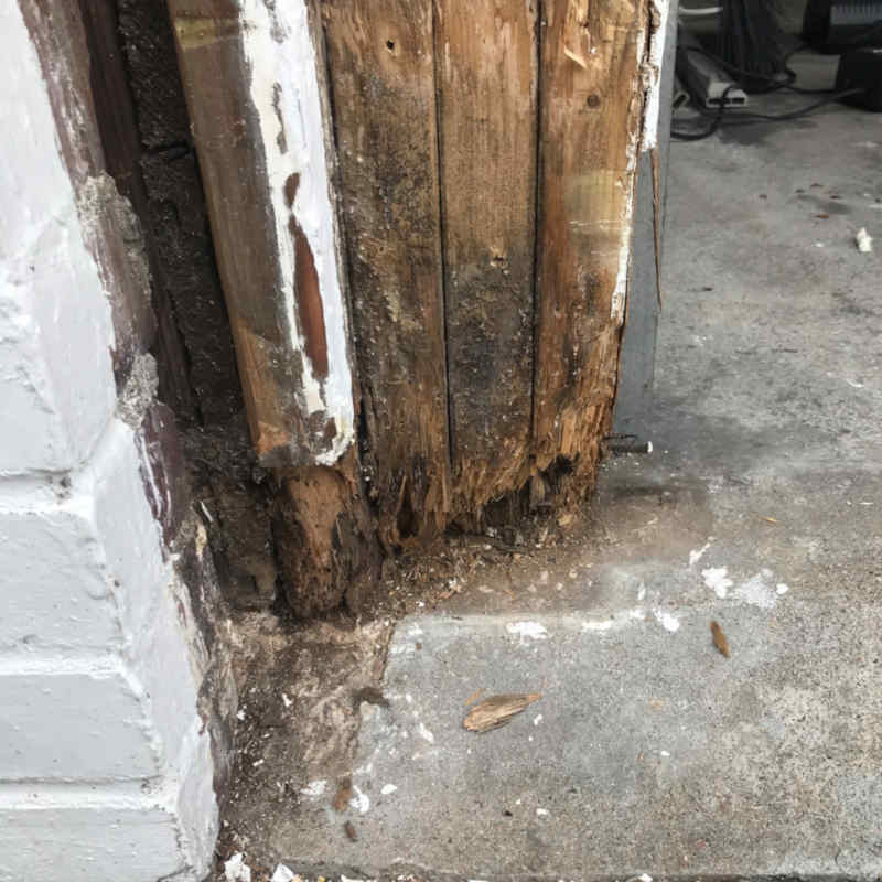 Before - Wood Rot Replacement + Seal