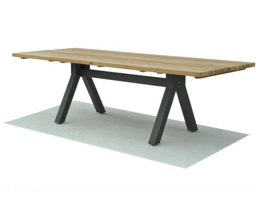 Skyline Design Alaska Rectangular 250 x 100 With Teak Table Top