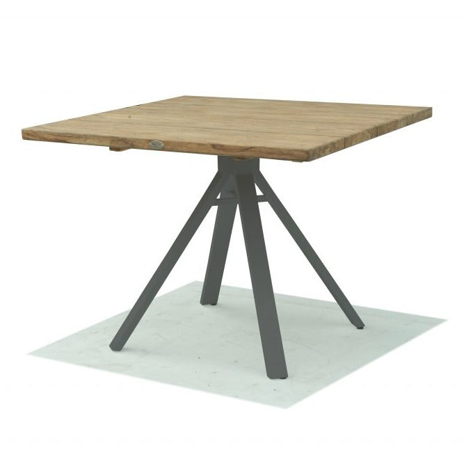 Skyline Design Alaska Square 100 x 100 With Teak Table Top