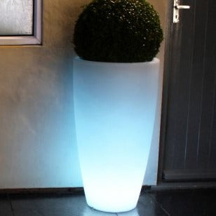 Outdoor LED Light up Curved Garden Planters