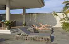 Load image into Gallery viewer, Skyline Design Dynasty Kubu Rattan Sun Lounger with Adjustable Back Rest