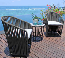 Load image into Gallery viewer, Skyline Design Milano Four Seat Aluminium Square Garden Dining Set