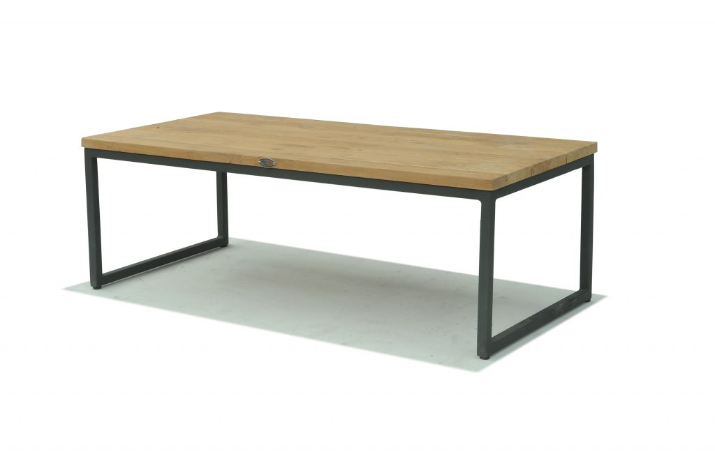 Skyline Design Nautic Rectangular 120x 60cm Coffee Table With Teak Table Top