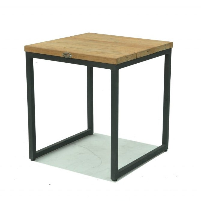 Skyline Design Nautic 50 x 50cm Side Table with Teak Top