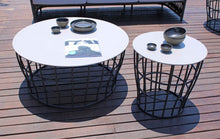 Load image into Gallery viewer, Skyline Design Optik Round Side Table Ceramic Monochrome top
