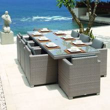Load image into Gallery viewer, Skyline Design Pacific Rattan Eight Seat Rectangular Garden Dining Set