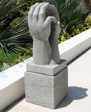 Load image into Gallery viewer, Two Hands Together Stone Sculpture With Plinth