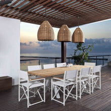 Load image into Gallery viewer, Skyline Design Venice Eight Seat Rectangular Garden Dining Set - Teak with White