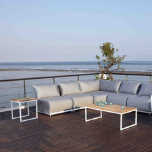 Load image into Gallery viewer, Skyline Design Nautic Rectangular 120x 60cm Coffee Table With Teak Table Top