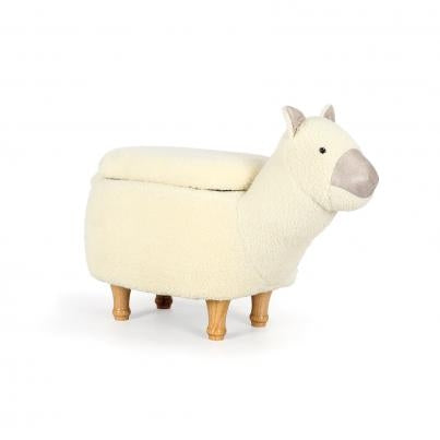 The Llama Animal Ottoman Footstool with Storage