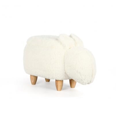 The Fluffy Rabbit Animal Ottoman Footstool with Storage