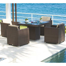 Load image into Gallery viewer, Skyline Design Pacific Rattan Four Seat Square Garden Dining Set