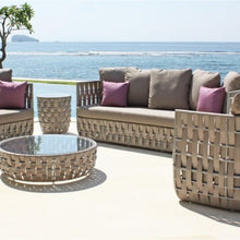 Load image into Gallery viewer, Skyline Design Strips Lounging Rattan Garden Armchair