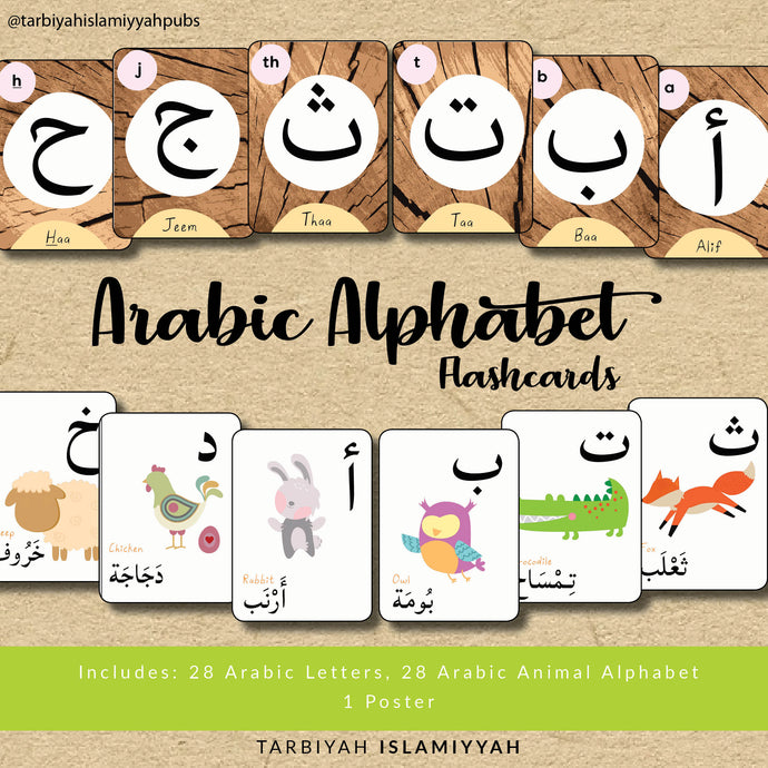 Arabic Alphabet Flashcards + Poster (Digital Download)
