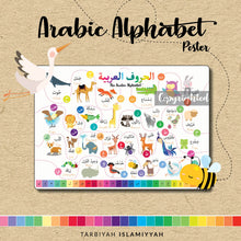 Load image into Gallery viewer, Arabic Alphabet Flashcards + Poster (Digital Download)