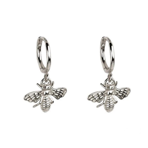Bee Mine Earrings Silver- coro coro