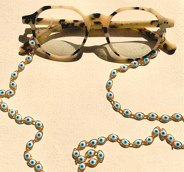 Blue Eyes Sunglass Chain- coro coro