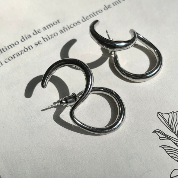 Silver Double Earrings- coro coro