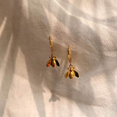 Bee Mine Golden Earrings- coro coro