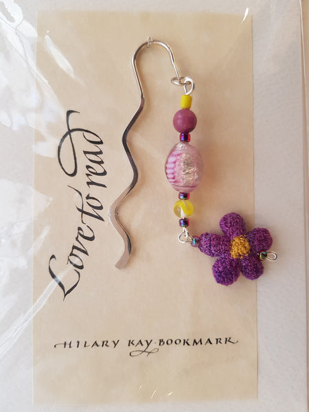 Embroidered jewelry - bookmarks by Hilary Kay