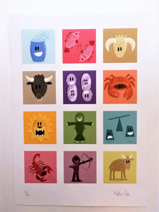 Astrology signs by Martin Lee ltd edition prints