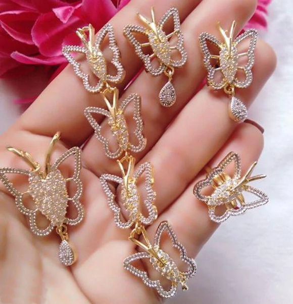 Trendy AD Jewellery Set