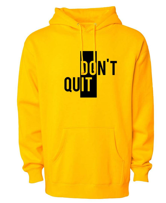 Men's Yellow Cotton Blend Printed Long Sleeves Regular Hoodies