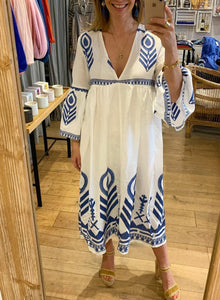 A-line Solid Loose Sleeve Maxi Dress