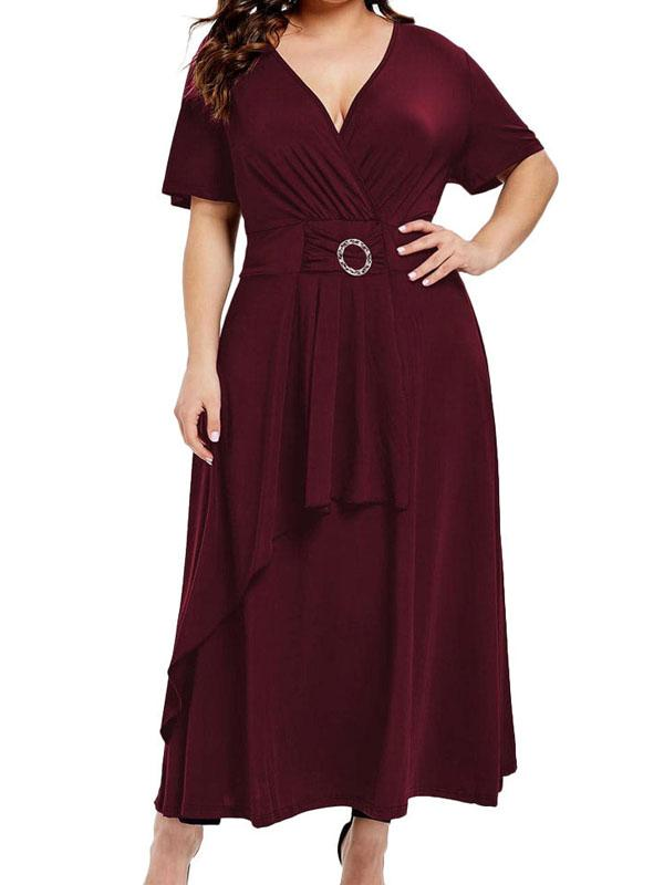 V-Neck Dress Loose Evening Dress