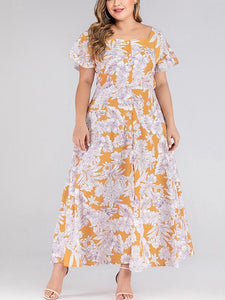 Oversize Fashion Beach Floral Maxi Dress