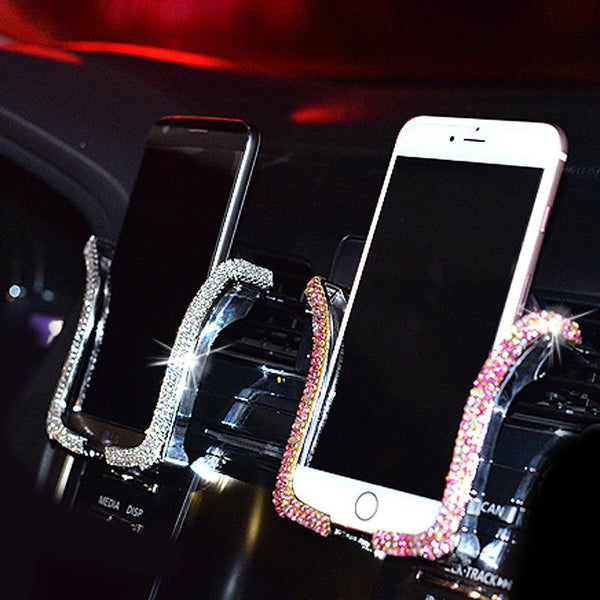 Bing Crystal Rhinestone Car Phone Holder