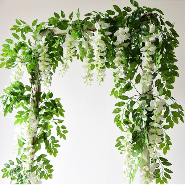 Wisteria Artificial Flower Vine Ivy Leaf