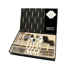 Load image into Gallery viewer, 24Pcs Tableware Cutlery Set